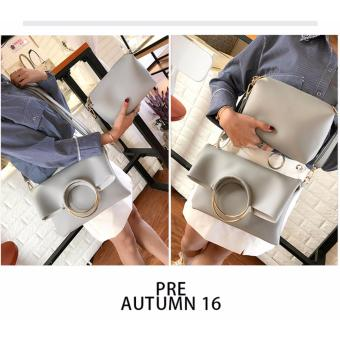 Korean Fashion Bag 2in1 (Gray) - 4