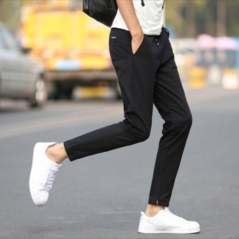 Korean Men's Casual Pants Fruit Color Leisure Pants Fashional NinePants For Men Slim Trousers Skinny Pants - intl - 3