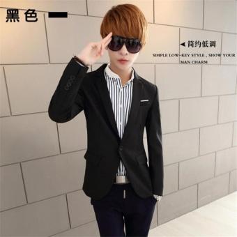 Korean Style Casual Slim Fit Men Coat Jacket/Wedding Suit/Tuxedo/Working Business suit - intl - 2