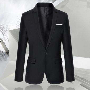 Korean Style Casual Slim Fit Men Coat Jacket/Wedding Suit/Tuxedo/Working Business suit - intl - 5