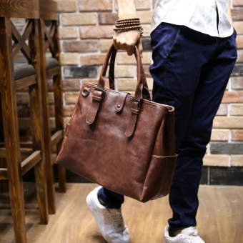 Korean-style Crazy Horse leather styling men's bag men's bag
