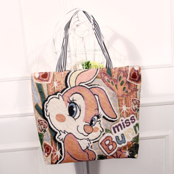 Korean-style embroidered shoulder large bag handbag (Bondi rabbit)