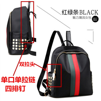 Korean-style female travel bag waterproof shoulder bag (Single-Port red and green to send Bear to send sachet shipping insurance card holder or small mirror)
