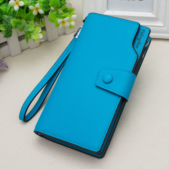Korean-style multi-functional large capacity hook clutch bag New style women's wallet (Blue)