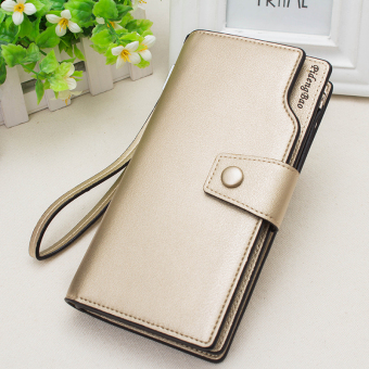Korean-style multi-functional large capacity hook clutch bag New style women's wallet (Gold)