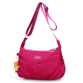 Korean-style New style dumpling bag waterproof nylon bag (Rose color)