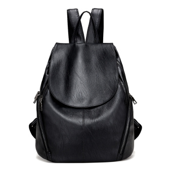 Korean-style soft leather bag New style casual backpack