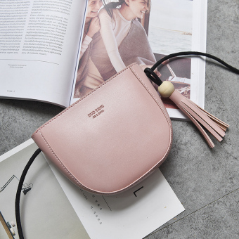 Korean-style spring and summer New style tassled bag (Pink) (Pink)