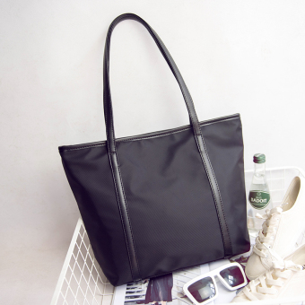 Korean-style waterproof Oxford Cloth shoulder bag New style women's bag ([Black]) ([Black])