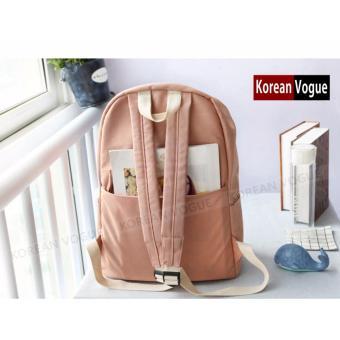 KOREAN VOGUE KV7006 Student Waterproof Nylon Women Unique LadiesFashion Ladies Backpack Bag(Grey) - 5