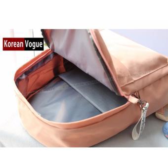 KOREAN VOGUE KV7006 Student Waterproof Nylon Women Unique LadiesFashion Ladies Backpack Bag(Grey) - 4