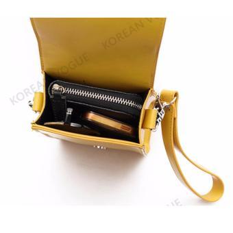 Korean Vogue SB-001 Ladies Quality Leather Unique Style Women MiniShoulder Chain Bag Phone Bag(White) - 3