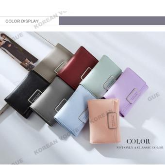 Korean Vogue SW-008 Ladies High Quality Exquisite Multi-functionShort Section 3 Folded Hand Bag Women Wallet Card Holder (Black) - 2