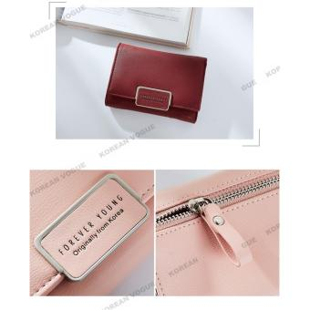 Korean Vogue SW-008 Ladies High Quality Exquisite Multi-functionShort Section 3 Folded Hand Bag Women Wallet Card Holder (Black) - 5