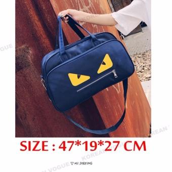 Korean Vogue TB-007 Premium Quality Women Large Capacity Big Eyes Tote Bag Series Ladies Travel Gym Sport Handbag Shoulder Bag(Black) - 3