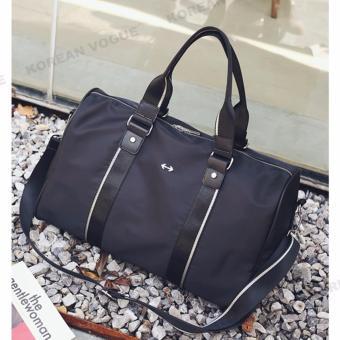 Korean Vogue TB-008 Premium Quality Women Large Capacity DoubleArrow Tote Bag Series Ladies Travel Gym Sport Handbag ShoulderBag(Black-Medium) - 4