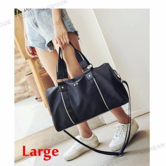 Korean Vogue TB-008 Premium Quality Women Large Capacity DoubleArrow Tote Bag Series Ladies Travel Gym Sport Handbag ShoulderBag(Black-Medium) - 3
