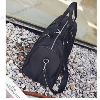 Korean Vogue TB-008 Premium Quality Women Large Capacity DoubleArrow Tote Bag Series Ladies Travel Gym Sport Handbag ShoulderBag(Black-Medium) - 5
