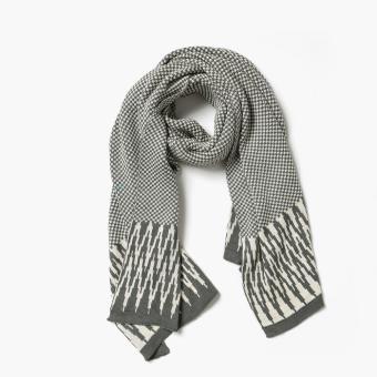 Kultura Chevron Knit Shawl (Gray)