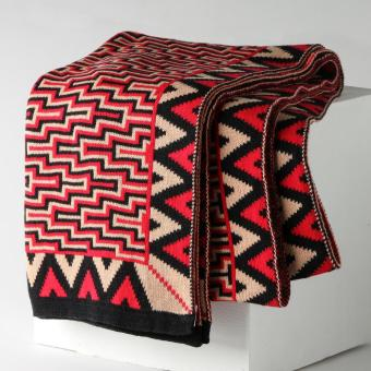 Kultura Ladies Chevron Puzzle Piña Scarf (Red)