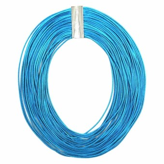 Ladies Multi Layered Magnetic-lock Nylon Necklace (Blue Green) - picture 2