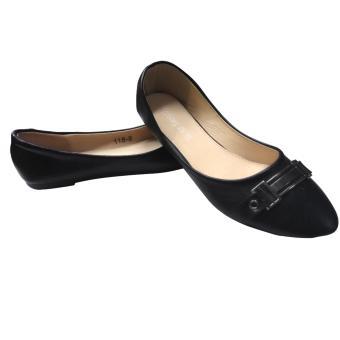 Lady flat shoes (black) - 2