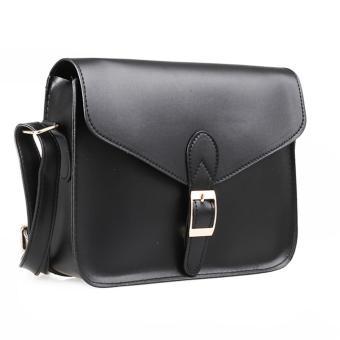 Lady Shoulder Crossbody Handbag PU Leather (Black) - picture 2