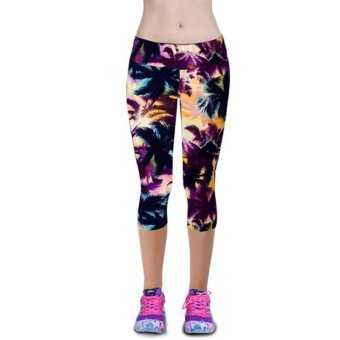 LALANG Exercise Leggings Sports Fitness Stretch Cropped Pants 29# Price Philippines