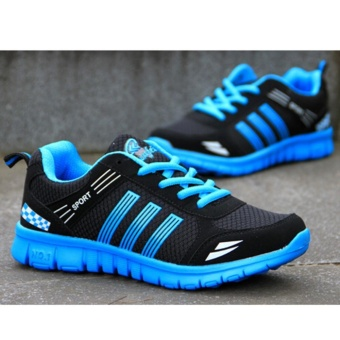 LALANG Men Running Trainers Mesh Shoes Jogging Sneakers (Blue) - intl - 3