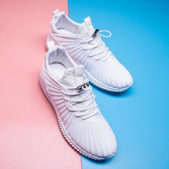 LALANG Sport Sneaker Mesh Breathable Running Shoes (White) - intl - 3