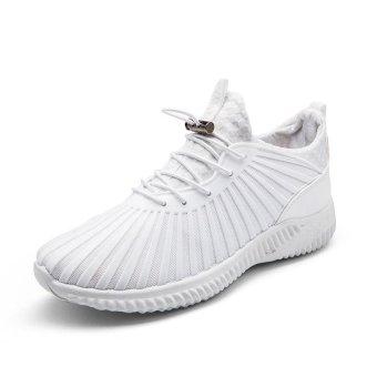 LALANG Sport Sneaker Mesh Breathable Running Shoes (White) - intl - 5
