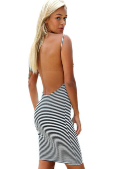 LALANG Striped Dress Black/White - picture 2