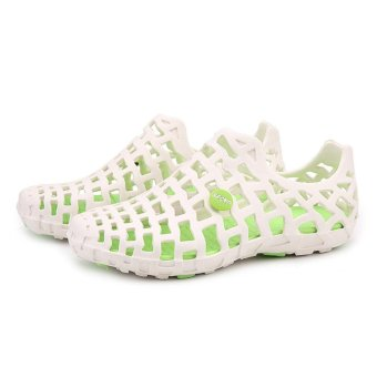 LALANG Women Hole Sandals Summer Plastic Jelly Beach Couple Shoes(White) - intl - 2