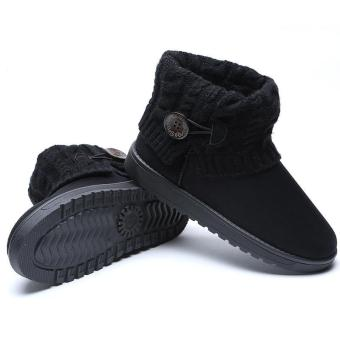 LALANG Women Snow Boot Ankle Short Boots Winter Warm Platform ShoesBlack - 2
