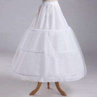 LAMUSi-EKA Petticoat Bridal Underskirt Half Slip 3 Hoops for Bridal- intl - 2