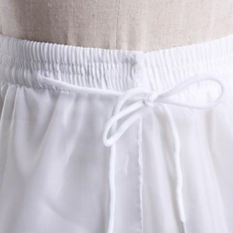LAMUSi-EKA Petticoat Bridal Underskirt Half Slip 3 Hoops for Bridal- intl - 3