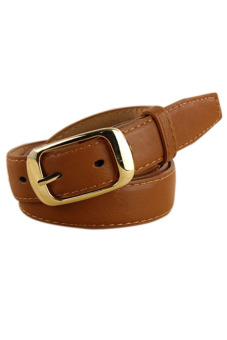 Leather Belts Strap Brown - picture 2