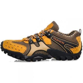 Lechgo Men's Breathable Hiking Shoes 1288-Orange - Intl - 2