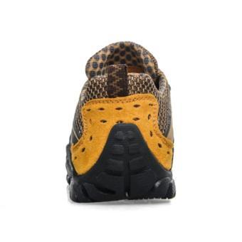 Lechgo Men's Breathable Hiking Shoes 1288-Orange - Intl - 5