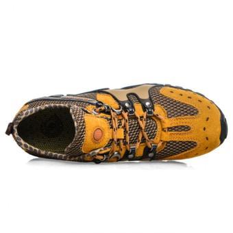 Lechgo Men's Breathable Hiking Shoes 1288-Orange - Intl - 3