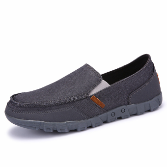 Lechgo Men's Fashion Slip-On Canvas Big Plus Size Casual ShoesYY030 (Grey) - Intl