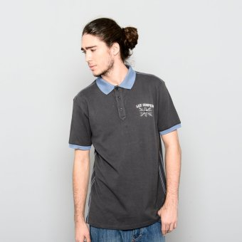 Lee Cooper Polo Shirt Slim Fit ( Dark (Gray)