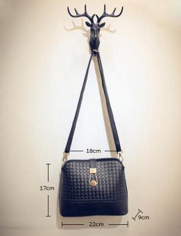 Leegoal Women Shoulder Bag Leather Handbag Satchel Messenger Bag,Black - intl - 2