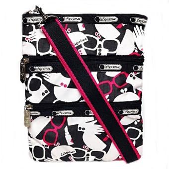Lesportsac Kasey Primp Cross Body Bag (White Red)