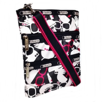 Lesportsac Kasey Primp Cross Body Bag (White Red) - picture 2