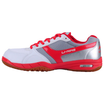 Li Ning aptl 002 gum outsole professional breathable non-slip sports shoes table tennis ball shoes (White/Hong/silver)