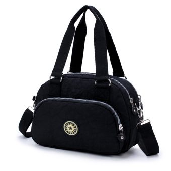 Lightweight large capacity handbag shoulder bag (Black)