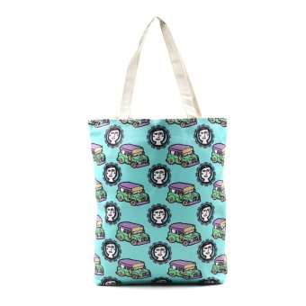 London Fashion Jeepney at Binibini Tote Bag (White)