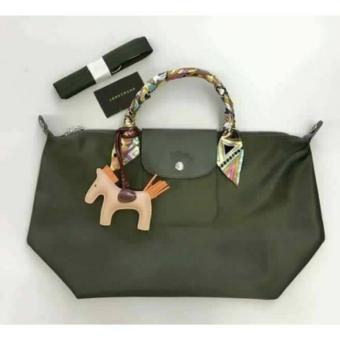 Long-champ Neo Pliage MEDIUM Short handle Free Twilly & RodeoCharm Authentic (LODEN)
