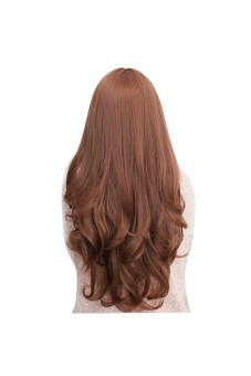 Long Curly Wigs Cosplay Hair Light Brown